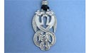 Aberlemno Seahorses Lead Free Pewter Medium Pendants c/w Cord