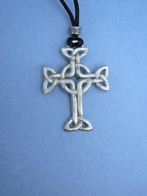 Lendlefoot Cross Lead Free Pewter Large Pendants c/w Cord