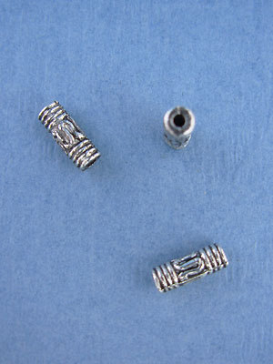 Bali Tube Bead - Base Metal
