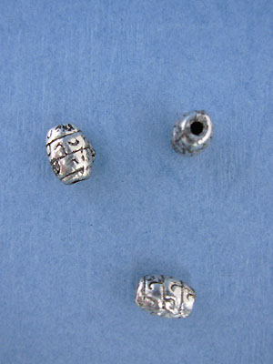 Filigree Barrel Bead - Base Metal