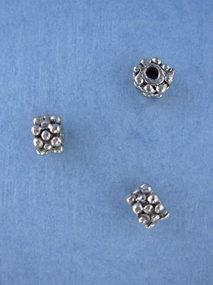 3 Ring Dotted Bead - Base Metal