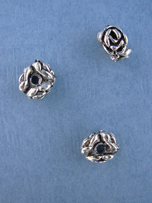 Rose Bead - Base Metal