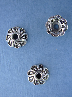 Open Flower Cone Bead - Base Metal