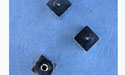 4mm Cube Memory Wire End Caps - 10pcs