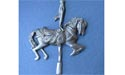 Carousel Horse Brooch - Lead Free Pewter