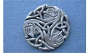 Wholeness Triskele Brooch - Lead Free Pewter