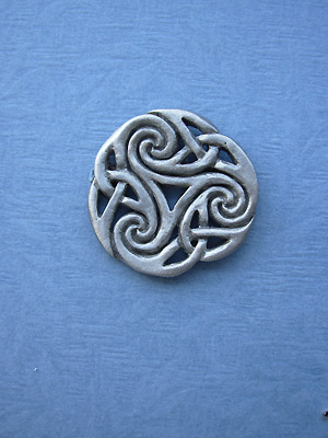 Spiral of Infinity Brooch - Lead Free Pewter