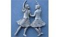 Pair of Highland Dancers Brooch - Lead Free Pewter