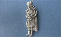 Standing Piper Brooch - Lead Free Pewter