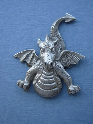 Flying Dragon Brooch - Lead Free Pewter