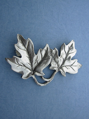 Two Maple Leaf Brooch - Lead Free Pewter