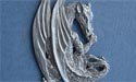 Sitting Dragon Brooch Lead Free Pewter