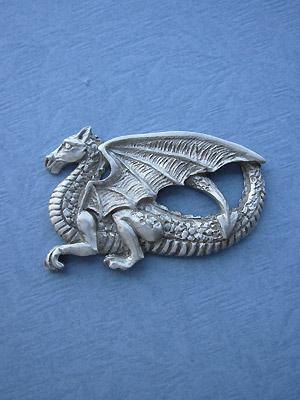 Walking Dragon Brooch Lead Free Pewter