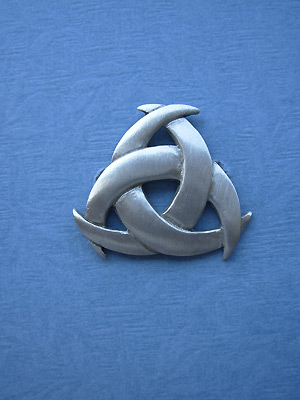 Triple Moons Brooch - Lead Free Pewter
