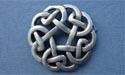 Celtic Circle Brooch -  Lead Free Pewter