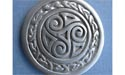 Triskele Shield (Extra Large) Brooch - Lead Free Pewter