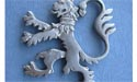 Rampant Lion (Lg) Brooch - Lead Free Pewter