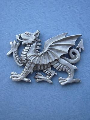 Welsh Dragon Brooch - Lead Free Pewter
