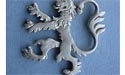 Rampant Lion (med) Brooch - Lead Free Pewter