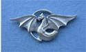 Dragon In Circle Brooch Lead Free Pewter