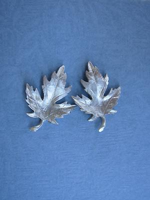 Maple Leaf - Lead Free Pewter Stud Earrings
