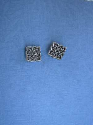 Knot Of Transformation - Lead Free Pewter  Stud Earrings