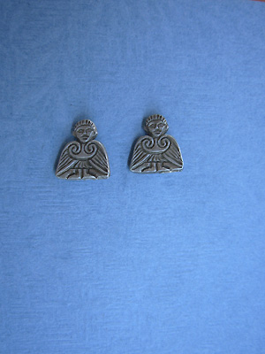 Clonmacnoise Angel -  Lead Free Pewter Stud Earrings