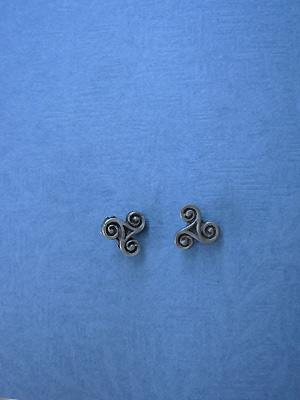 Triskele - Lead Free Pewter Stud Earrings