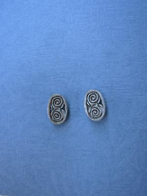 Friendship Ovals - Lead Free Pewter Stud Earrings