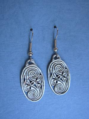 Friendship Ovals - Lead Free Pewter Dangle Earrings