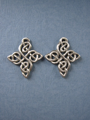Happiness Knot - Lead Free Pewter Stud Earrings