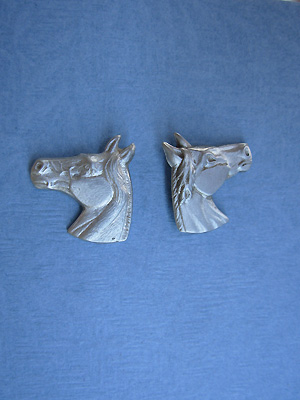 Horse Head - Lead Free Pewter Stud Earrings