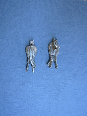 Comical Horse - Lead Free Pewter Stud Earrings