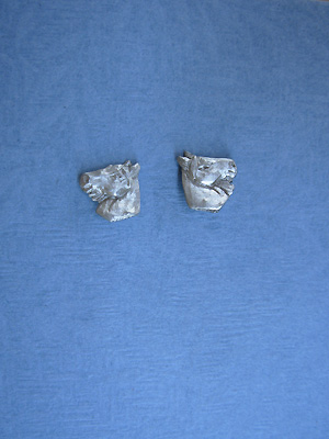 Sm. Horse Head - Lead Free Pewter Stud Earrings