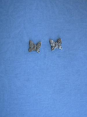 Small Butterfly Earrings - Lead Free Pewter