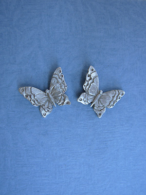 Large Butterfly Earrings - Lead Free Pewter