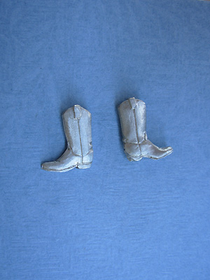 Cowboy Boots - Lead Free Pewter Stud Earrings