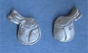 English Saddle - Lead Free Pewter Stud Earrings