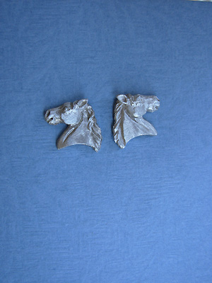 3-D Horse Head - Lead Free Pewter Stud Earrings