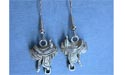 Western Saddle - Lead Free Pewter Dangle Earrings