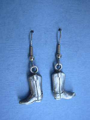 Cowboy Boots - Lead Free Pewter Dangle Earrings