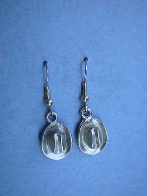 Cowboy Hats - Lead Free Pewter Dangle Earrings