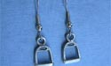 Stirrup - Lead Free Pewter Dangle Earrings