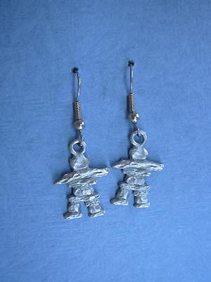 Inukshuk - Lead Free Pewter Dangle Earrings