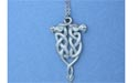 "Celtic Dragons Lead Free Pewter Medium Pendant c/w 18"" Chain"