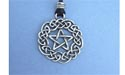 Celtic Pentagram Lead Free Pewter Medium Pendant c/w Cord