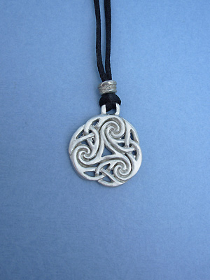 Spiral of Infinity Lead Free Pewter Medium Pendant c/w Cord