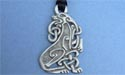Celtic Dog Lead Free Pewter Large Pendant c/w Cord