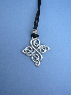 Happiness Knot Lead Free Pewter Medium Pendant c/w Cord