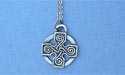 "Cross of 4 Seasons Lead Free Pewter Small Pendant c/w 18"" Chain"